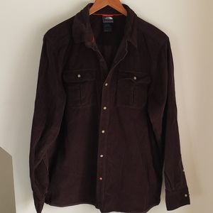 North Face Corduroy Button Down Shirt - Brown
